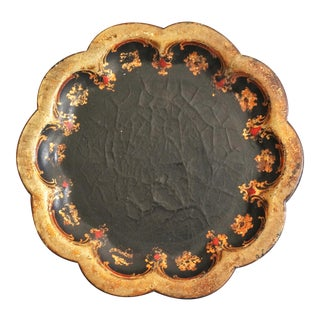 19th-Century Papier Mache Wine Coaster