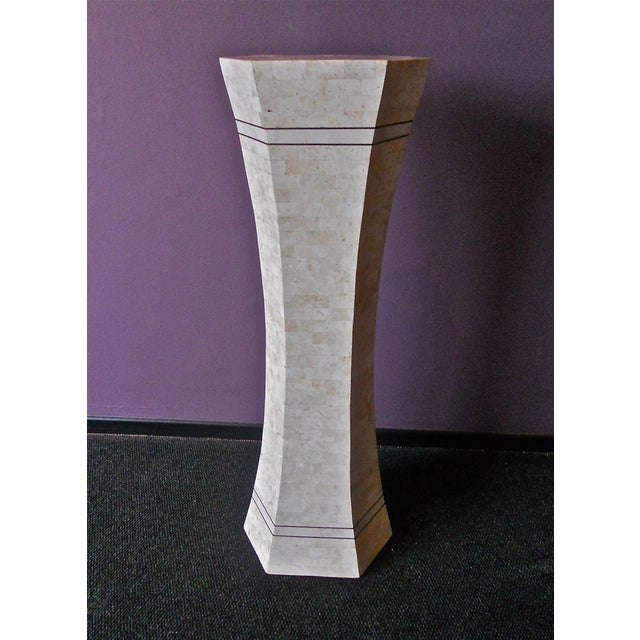 Marble and Brass Pedestal For Sale In Los Angeles - Image 6 of 6