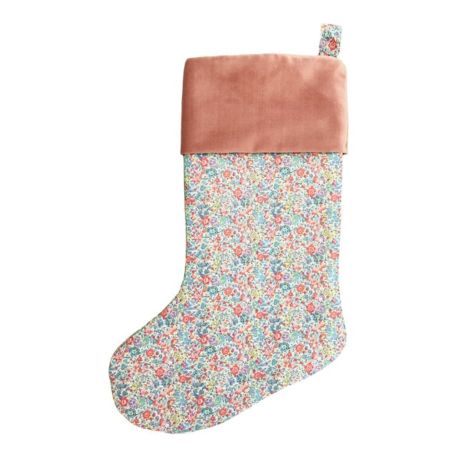 Liberty of London Emma and Georgina Christmas Stocking with Velvet Cuff For Sale