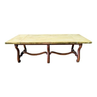 Brass-Top Coffee Table, Sarreid For Sale