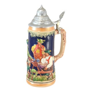 German Ceramic & Pewter Stein