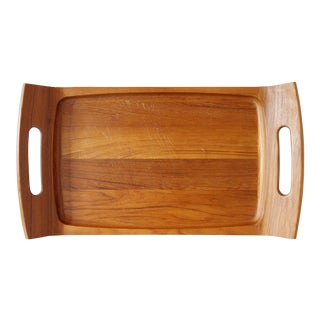 Large Dansk Teak Tray Cutting Board with Handles Jens Quistgaard Danish Modern