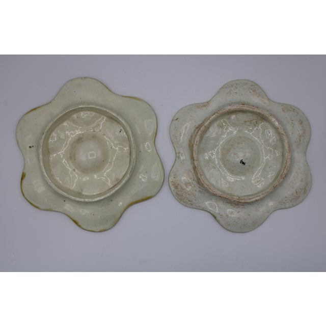 Antique Wedgewood Majolica Ceramic Oyster Plates For Sale - Image 9 of 12