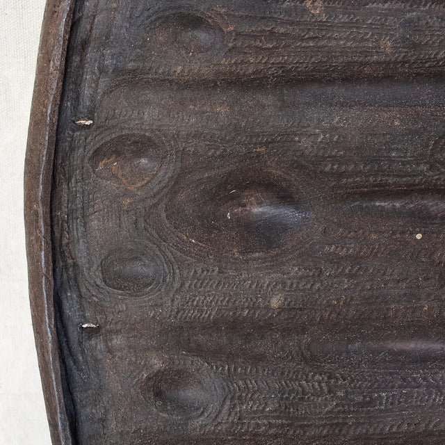 19th Century African Leather Shield For Sale In San Francisco - Image 6 of 11