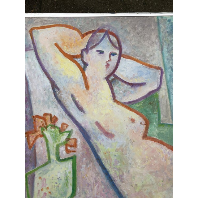 Abstract Original May Bender Female Nude Abstract Painting For Sale - Image 3 of 6
