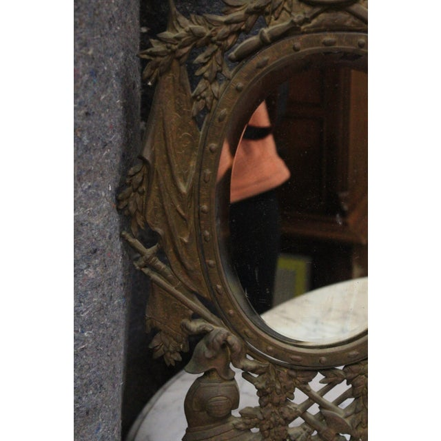 Gothic Style Military Motif Table Mirror For Sale In New York - Image 6 of 8