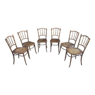 Antique Bentwood Cafe Chairs Set of Six