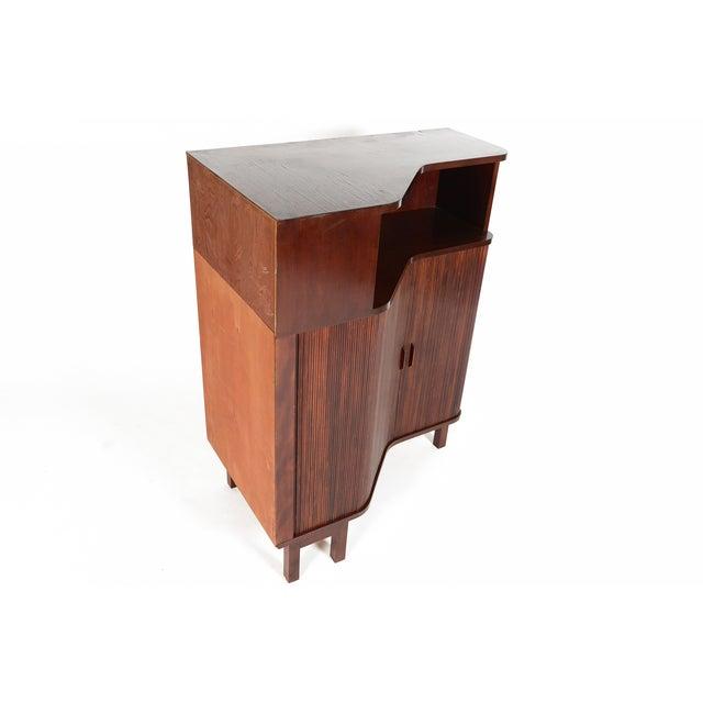Danish Modern Mahogany Tambour Corner Unit - Image 4 of 9