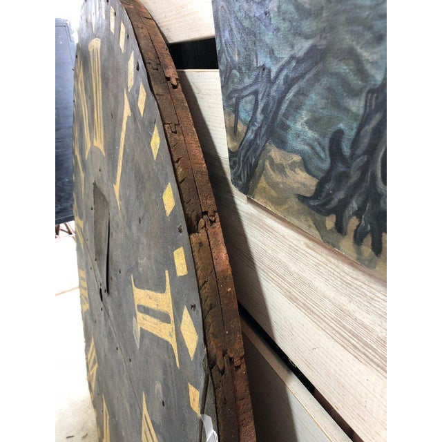 Large Antique Clock Face For Sale In Chicago - Image 6 of 7