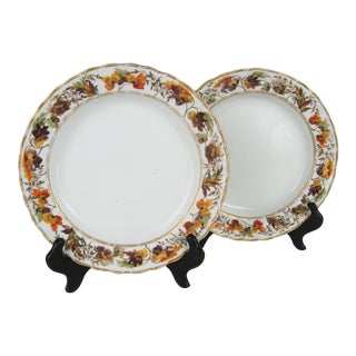 18th Century Derby Porcelain Plates -a Pair For Sale
