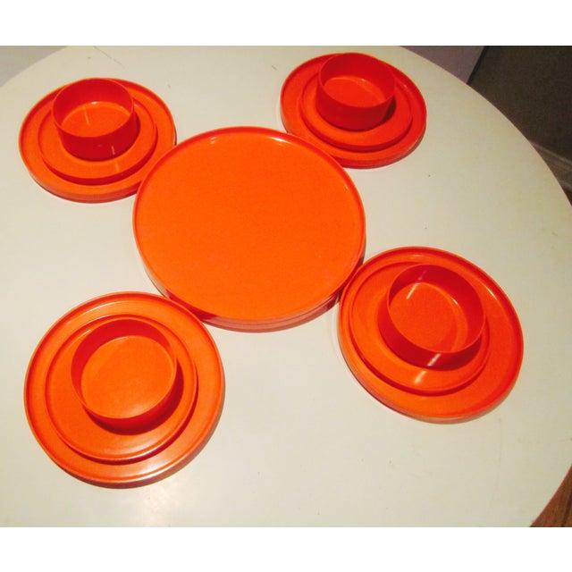 Heller Vignelli Stacking Orange Plate Bowl 30 Pcs - Image 8 of 11