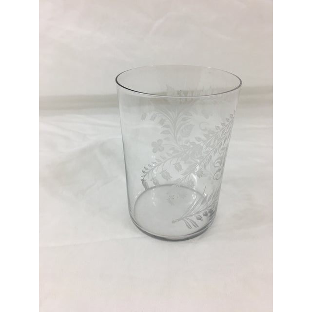 This lovely cup is an American glass and dates from circa 1900. In excellent condition, with one very small chip on the...