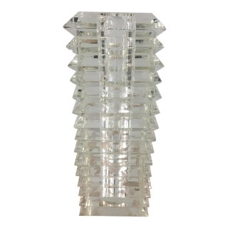 Contemporary Stacked Crystal Vase