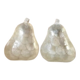 Mother-Of-Pearl Pear-Shaped Dishes - a Pair