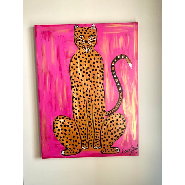 2020s Large Abstract Leopard Painting by Ebony Boyd For Sale - Image 5 of 5