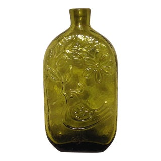 Wayne Husted Designed Glass Bottle For Sale
