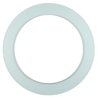 Full Circle Modern Original Round Acrylic Frame Mirror For Sale