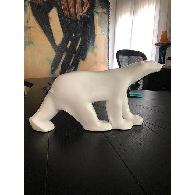 Polar Bear statue by Christopher Guy.