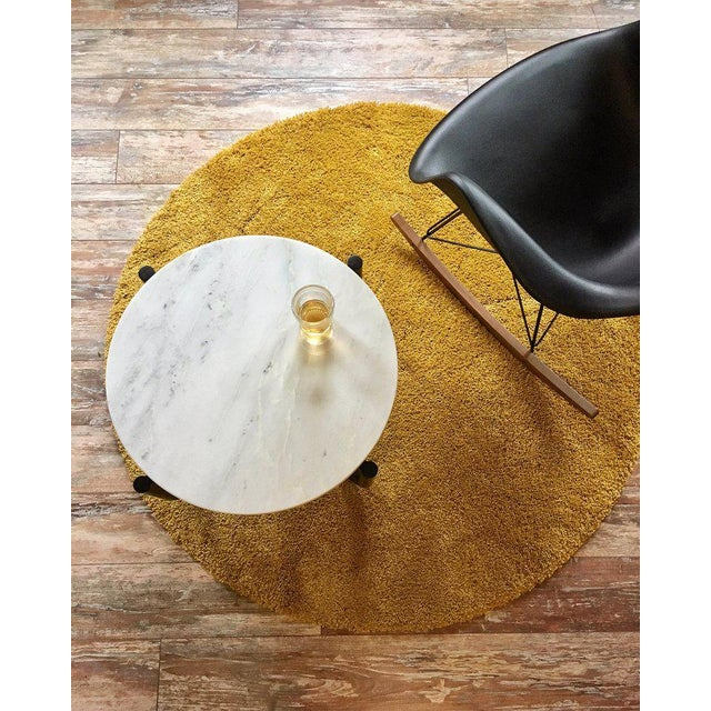 Gathering Side Table in Dyed Maple & Carrara Marble For Sale In New York - Image 6 of 6
