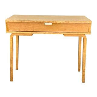 Mid-Century Modern Thonet Bentwood Blonde Writing Desk Table For Sale