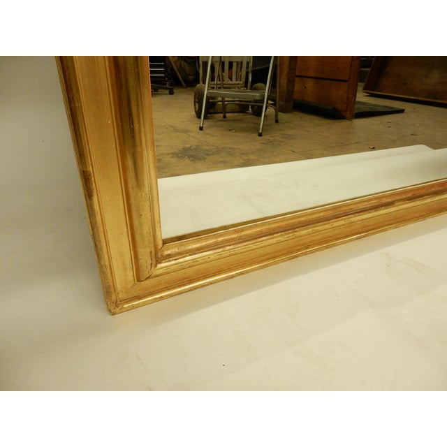 Louis Philippe Gold Gilt Mirror For Sale In New Orleans - Image 6 of 10