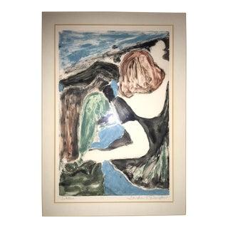 "1990s Vintage Watercolor Painting ""Untitled"" by Sondra K. Douglas"