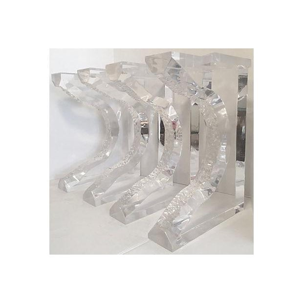 Hand Sculpted Lucite Bench Legs - Set of 4 - Image 2 of 8
