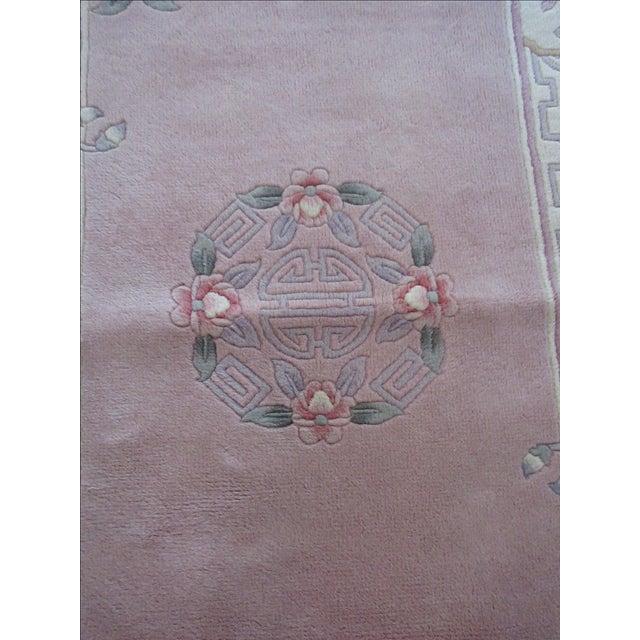 Asian Pink & White Runner Rug - 3′6″ × 6′6″ - Image 5 of 10