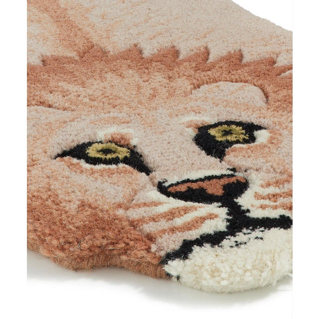 Shabby Chic Doing Goods Pinky Lion Rug Small For Sale - Image 3 of 6