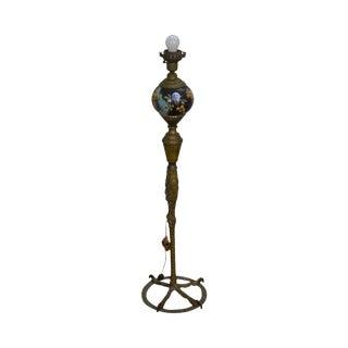 Antique Bronze Ostrich Leg Floor Lamp (Possibly p.e. Guerin) For Sale