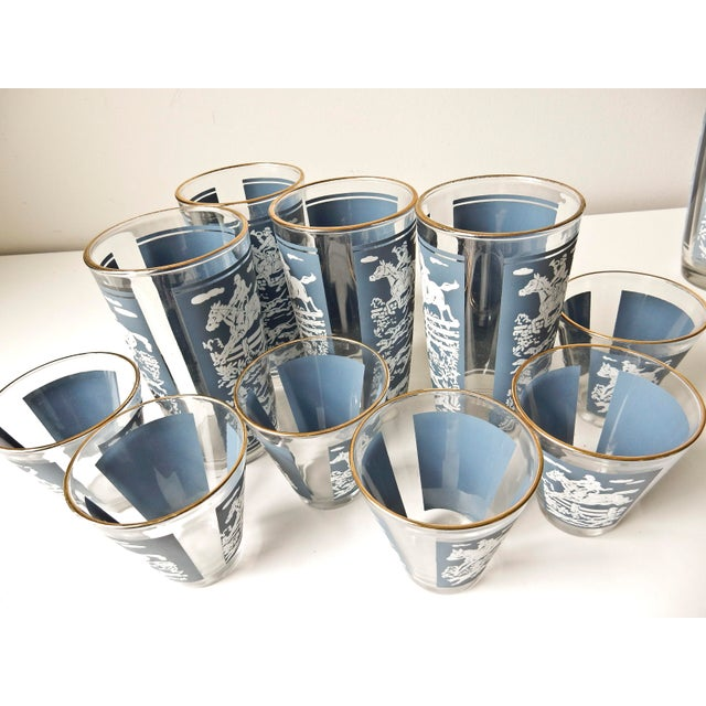 1960s Vintage Cocktail Shaker and Glasses Set - Set of 11 For Sale - Image 5 of 10