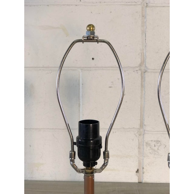 1990s Table Lamps With Recycled Car Parts, a Pair For Sale - Image 5 of 9