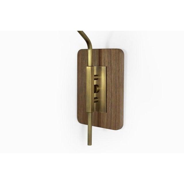 "Brass & Midnight Enamel ""Elska"" Wall Sconces For Sale In New York - Image 6 of 12"