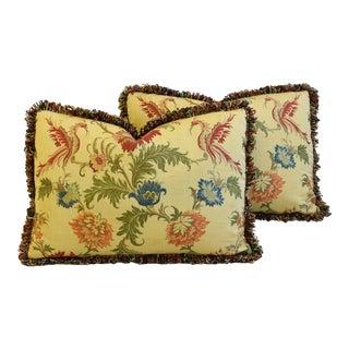 "Italian Coraggio Jacquard Feather/Down Pillows 24"" X 17"" - Pair For Sale"