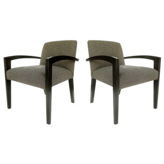 Dakota Jackson Style Armchairs - a Pair For Sale
