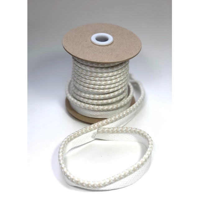 """2010s Braided 1/4"""" Indoor/Outdoor Cord in White/Cream For Sale - Image 5 of 10"""