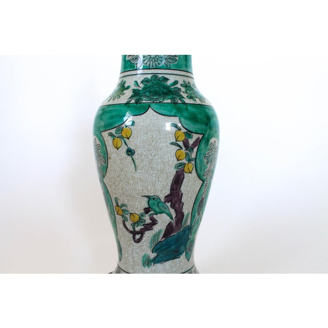 Hand Painted Table Lamp by Frederick Cooper For Sale In Milwaukee - Image 6 of 11