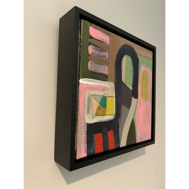 Contemporary Contemporary Abstract Black Floater Framed Original Painting For Sale - Image 3 of 9