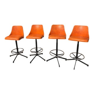 1960s Vintage Cosco Mid-Century Modern Barstools - Set of 4 For Sale