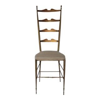 Italian Brass Ladder Back Chiavari Chair