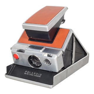 "Vintage Reconditioned Polaroid Land Camera ""Sx-70"" With Leather Pouch C.1970 For Sale"