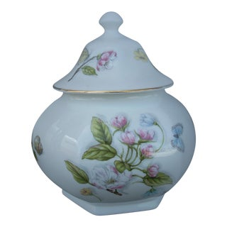 20th Century English Traditional Aynsley Porcelain Covered Jar