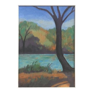 Truckee River in Reno Oil Painting For Sale