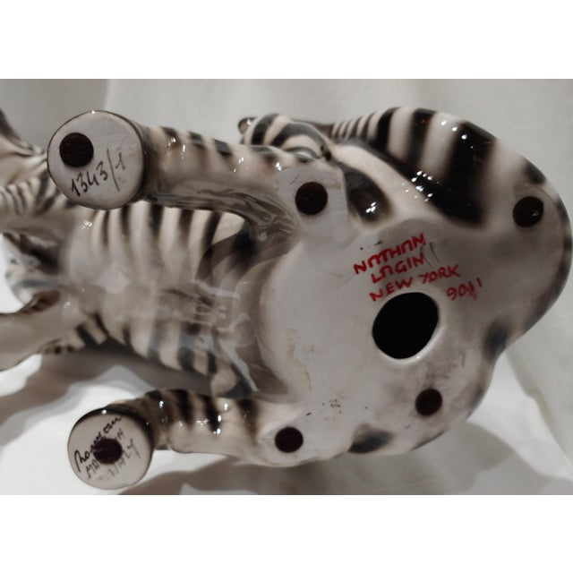 """1950s Italian Porcelain 18"""" Zebra With Makers Marks For Sale In Buffalo - Image 6 of 7"""