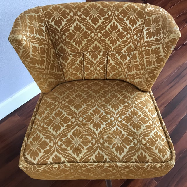 1960s Vintage Vanity Swivel Chair For Sale - Image 4 of 8