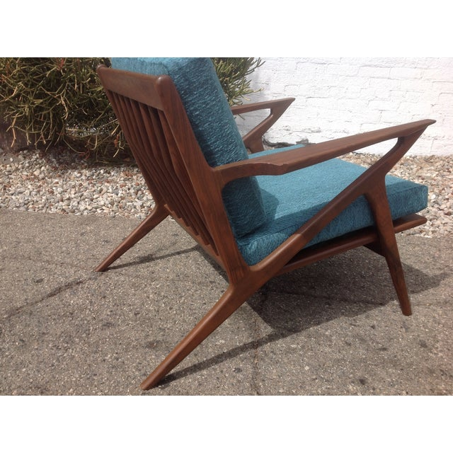 Mid Century Modern Style Z Lounge Chairs - Pair - Image 3 of 5