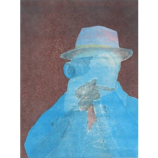 """Rob Delamater """"Bresson With Camera Iv"""" Portrait Monotype on Paper, 2015 2015 For Sale"""