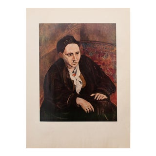 1950s Picasso, Original Portrait of Gertrude Stein, Period Lithograph For Sale