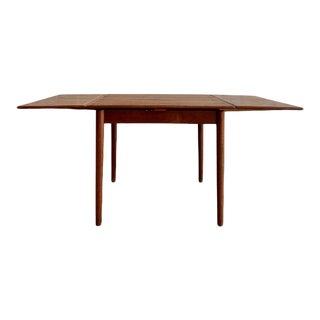 Mid Century Modern Teak Danish Dining Table Hidden Leaves, Made in Denmark For Sale