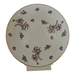 Royal Victoria English White and Purple Bone China Dessert Plate For Sale